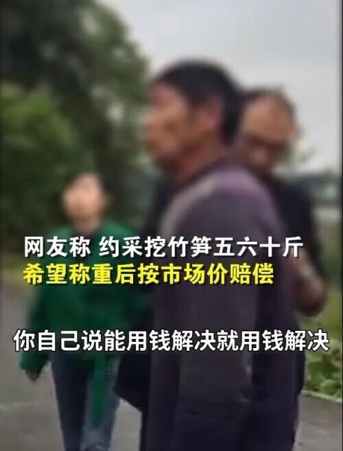 """游客私挖竹笋遭成都村民索赔""""1根1万元""""?剧情反转"""