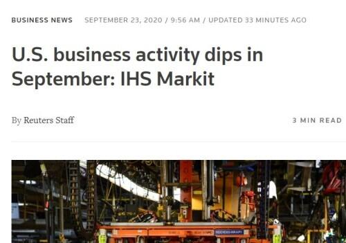 疫情下的美国经济:商业活动回落,复苏力度