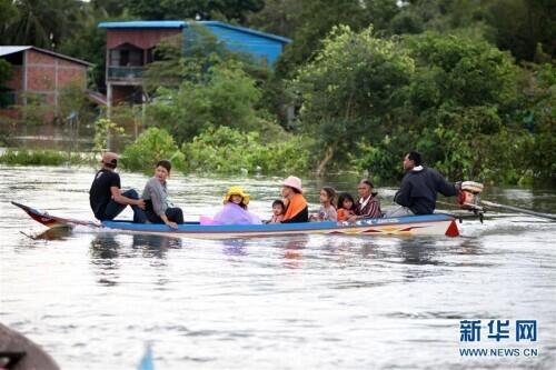柬埔寨洪灾已致34人丧生